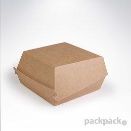 Hamburger box L kraft