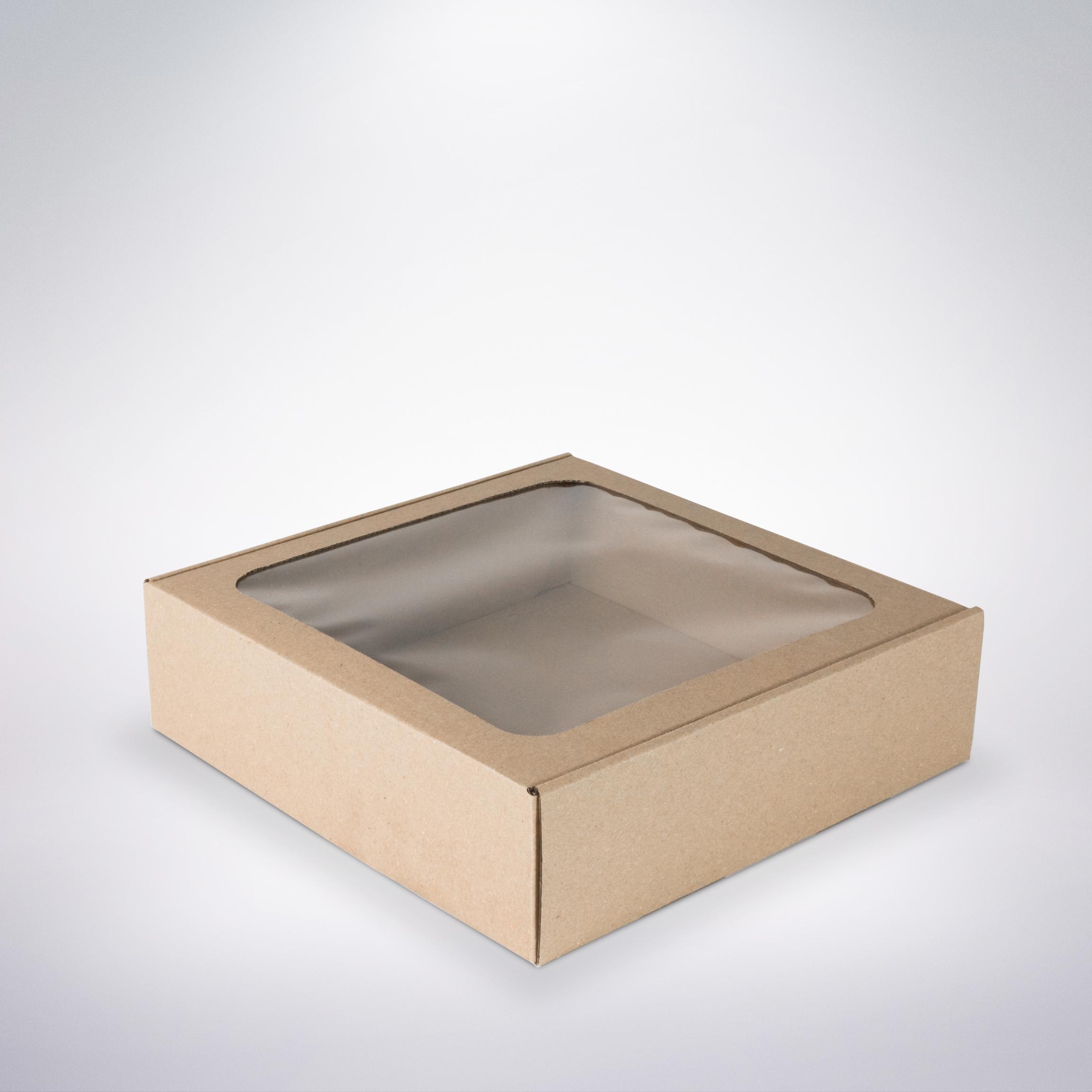 0e5c3dcf7 Krabička s okienkom 250x250x70 hnedá